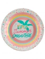 10 Assiettes carton Summer smoothie 22,5 cm