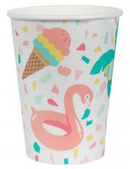 10 Gobelets carton Summer smoothie 7,8 x 9,7 cm