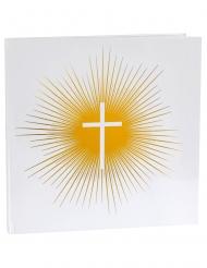 Livre d'or cérémonie dorée 24 x 24 cm