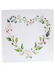 Livre d'or mariage végétal 24 x 24 cm