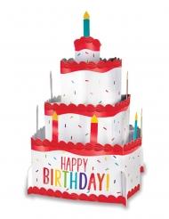 Centre de table Happy Birthday gâteau d'anniversaire 25 cm