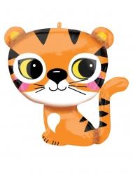 Ballon en aluminium petit tigre 63 x 63 cm
