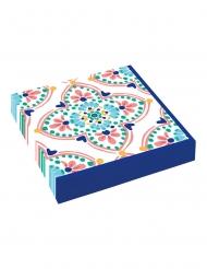 16 Petites serviettes en papier Boho Vibes 25 x 25 cm