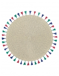 Set de table avec pompons Boho Vibes 38 cm