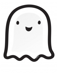 8 Assiettes en carton Petit fantôme Halloween Friends 27 cm
