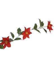 Guirlande de poinsettias 8 fleurs 1,7 m