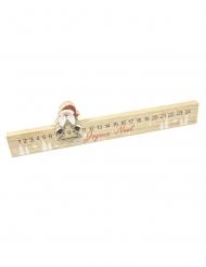 Calendrier de l'avent règle en bois 40 x 10,5 cm