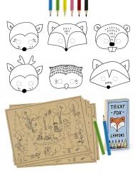 Kit coloriages Animaux de la forêt