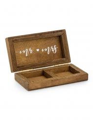 Boite à alliances en bois mariage 10 x 5,5 cm