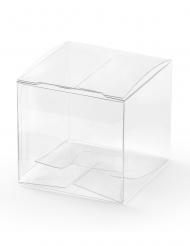 10 Petites boîtes transparentes 5 x 5 x 5 cm
