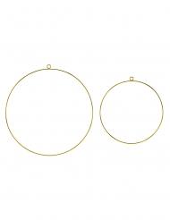 2 Cercles dorés 20 et 28 cm