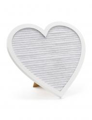 Tableau cœur à lettres dorées 31 x 29 cm