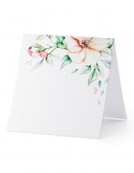 25 Marque-places en carton feuilles végétales 7 x 7,5 cm
