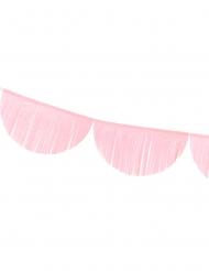 Guirlande festonnée à franges roses 3 m