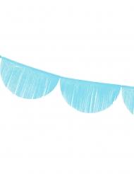 Guirlande festonnée à franges bleues 3 m