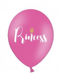 6 Ballons rose fuchsia princesse 30 cm