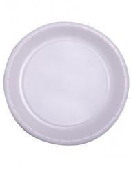 50 Assiettes en carton blanc 22 cm
