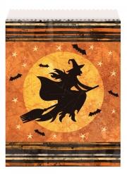 8 Sachets en papier sorcière d'Halloween