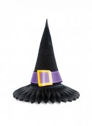 Centre de table en papier alvéolé chapeau de sorcière 28 cm