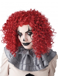 Perruque clown rouge adulte