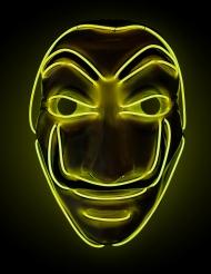 Masque voleur LED jaune adulte