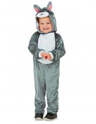 Déguisement lapin gris bébé