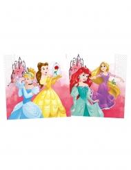 20 Serviettes en papier compostable Princesses Disney™ 33 x 33 cm