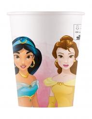 8 Gobelets en carton compostable Princesses Disney™ 200 ml