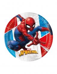 8 Assiettes en carton compostable Spiderman™ 23 cm