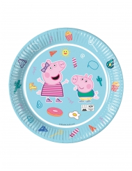 8 Assiettes en carton compostable Peppa Pig™ 23 cm