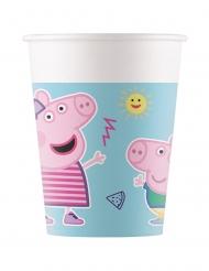8 Gobelets en carton compostable Peppa Pig™ 200 ml