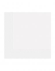 20 Serviettes en papier home compostable blanches 33 x 33 cm