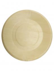 4 Assiettes en bois 21 cm
