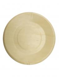 4 Petites assiettes en bois 19 cm