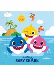 20 Serviettes en papier FSC® Baby Shark™ 33 x 33 cm