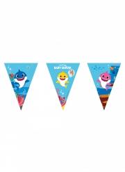 Guirlande fanions en papier FSC® Baby Shark™ 2,3 m