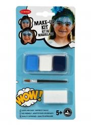 Kit maquillage princesse des glaces avec pinceau et éponge fille