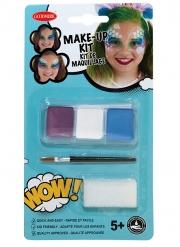 Kit maquillage sirène avec pinceau et éponge fille