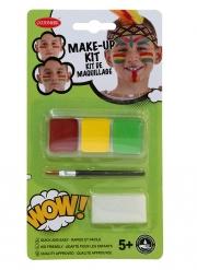 Kit maquillage indien avec pinceau et éponge enfant