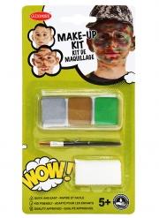 Kit maquillage militaire avec pinceau et éponge enfant
