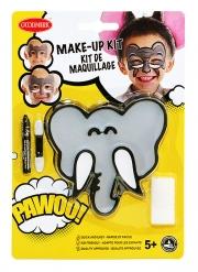 Kit maquillage éléphant avec pinceau et éponge enfant