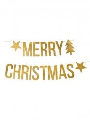 Guirlande Merry Christmas dorée 150 x 10,5 cm
