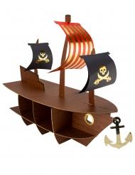 Présentoir bateau pirate dorure 46,5 x 40 x 20 cm