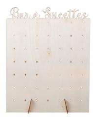 Présentoir à sucettes en bois 40 x 30 cm