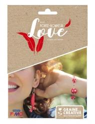 Kit bijoux porte-bonheur parure plumes