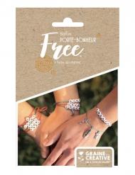 Kit bijoux porte-bonheur bracelets perles alphabet