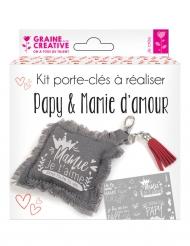 Kit porte-clef à réaliser Papy Mamie