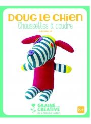 Kit chaussettes à coudre Doug le chien 15 x 19 x 18 cm