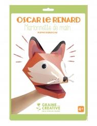 Marionnette de main en carton Oscar le renard 20,5 x 29 cm