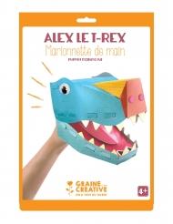 Marionnette de main en carton Alex le T-rex 20,5 x 29 cm